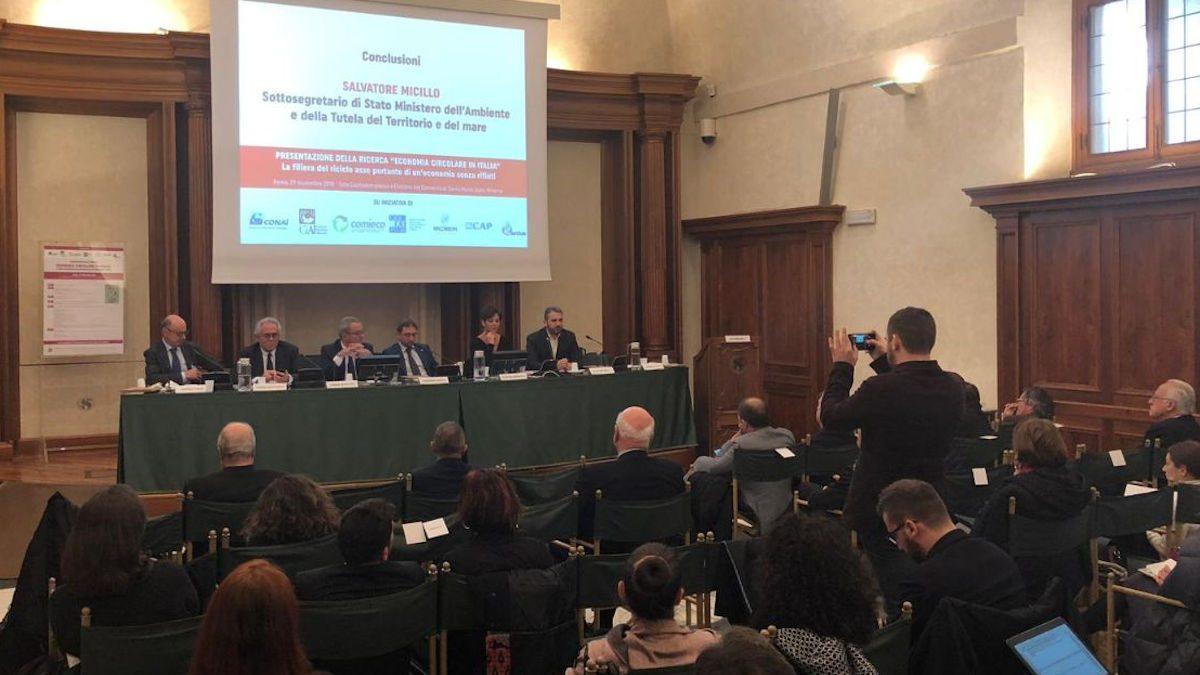 Salvatore Micillo Presentazione Economia Circolare in Italia