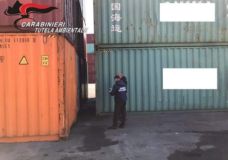 Container Salerno con Rifiuti