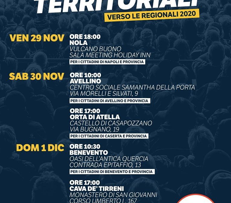 Verso le elezioni Regionali Campania2020 grafica