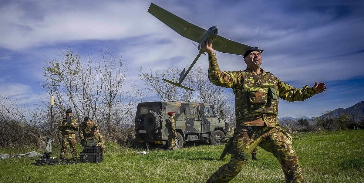 lancio di un drone per la terra dei fuochi