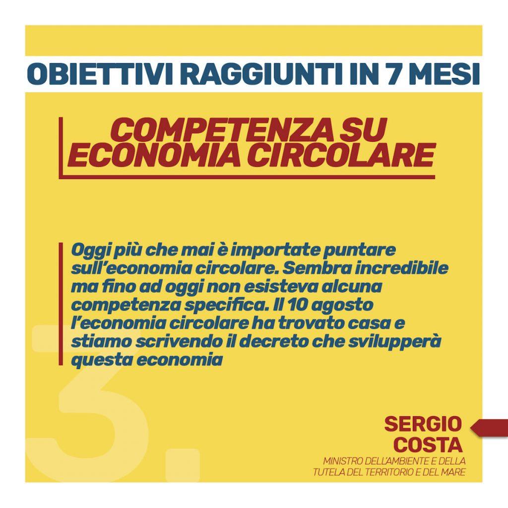 obiettivi raggiunti in 7 mesi Competenza economia circolare