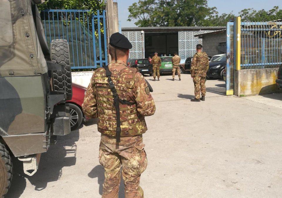 Operazione interforze contro la terra dei fuochi 14 giugno 2019