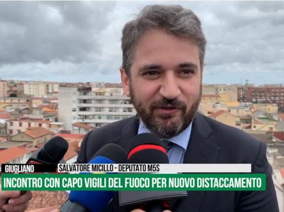 Salvatore Micillo secondo incontro Giugliano Caserma vigili del Fuoco