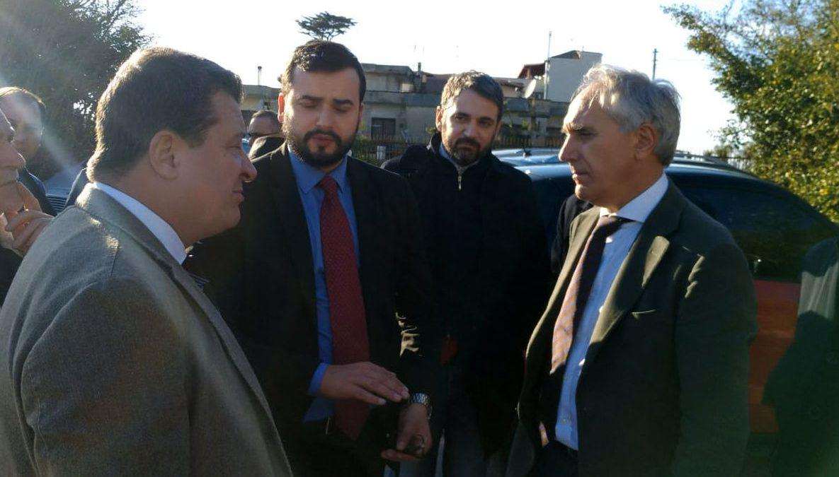 Vigili del Fuoco A GIugliano Momento dell'incontro precedente