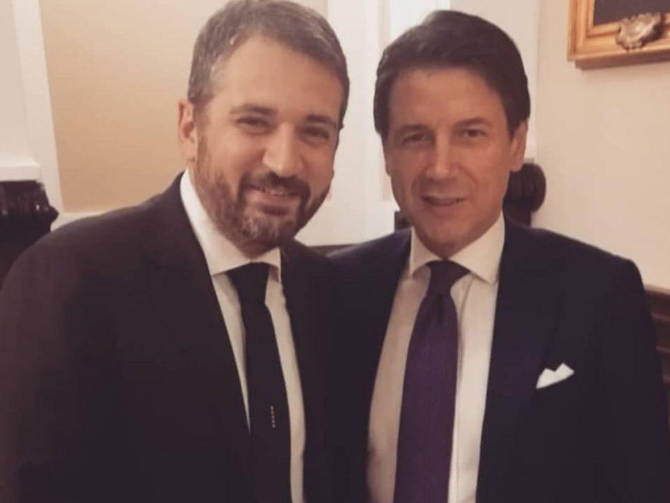 Salvatore Micillo con il Presidente del Consiglio conte