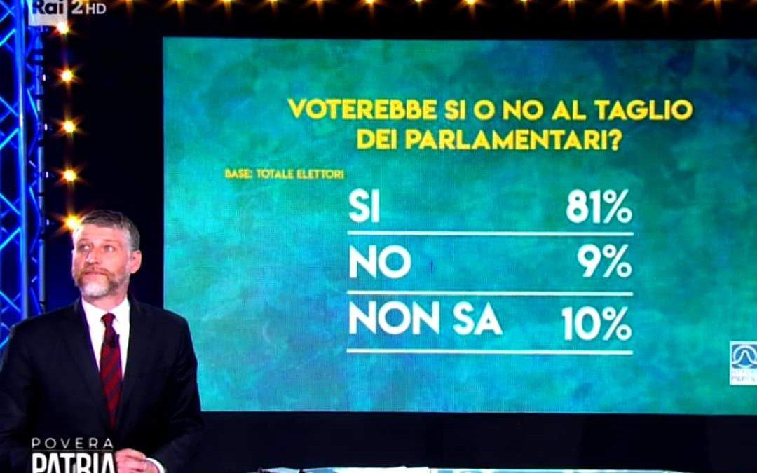 sondaggio taglio parlamentari